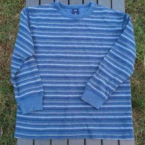 Gap Boys 10/12 long sleeve blue stripe shirt. NICE
